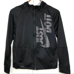 Nike Dry Fit JUST DO IT Black Hoodie, XL